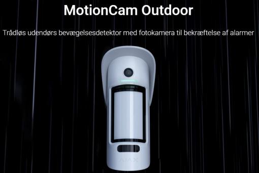 MotionCam Outdoor Trådløs udendørs bevægelsesdetektor med fotokamera til bekræftelse af alarmer